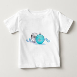 BLUE & SILVER ORNAMENTS by SHARON SHARPE Baby T-Shirt