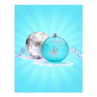 BLUE & SILVER ORNAMENTS by SHARON SHARPE Personalized Flyer