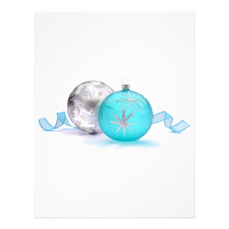 BLUE & SILVER ORNAMENTS by SHARON SHARPE Flyer