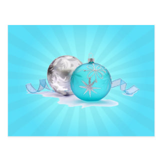 BLUE & SILVER ORNAMENTS by SHARON SHARPE Postcard