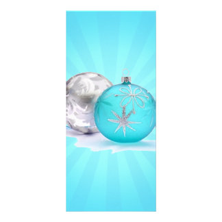 BLUE & SILVER ORNAMENTS by SHARON SHARPE Rack Card