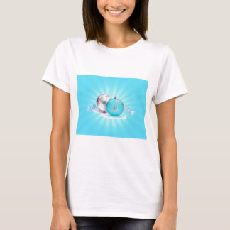 BLUE & SILVER ORNAMENTS by SHARON SHARPE T-Shirt