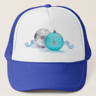BLUE & SILVER ORNAMENTS by SHARON SHARPE Trucker Hat