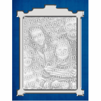 Blue & silver Photo frame Ornament Cut Outs