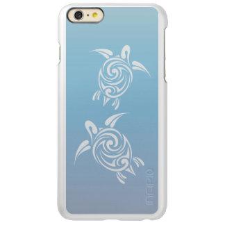 Blue Silver Sea Turtles Tribal Animal Incipio Feather Shine iPhone 6 Plus Case