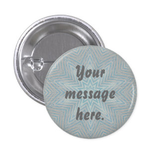 Blue Silver Star Kaleidoscope Your Words Buttons