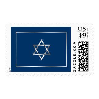 Blue Silver Star of David Postage