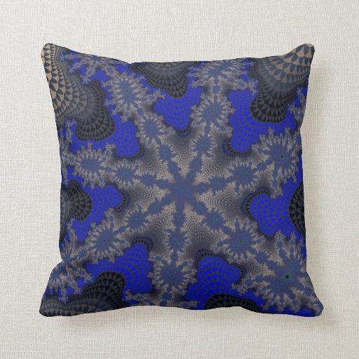 Silver Blue Decorative Pillows : Blue Silver Starburst Throw Pillow Zazzle