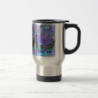 BLUE & SILVER SWAN by SHARON SHARPE Travel Mug