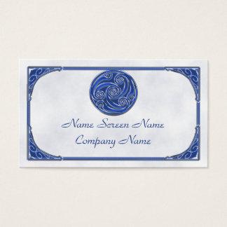 Blue Silver Triskel Business Card