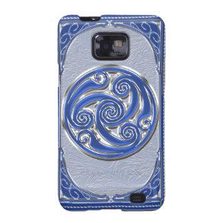 Blue Silver Triskel Samsung Galaxy S2 Case