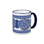 Blue Silver Triskel Mug