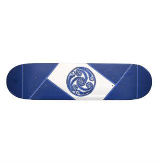 Blue Silver Triskel Skate Decks