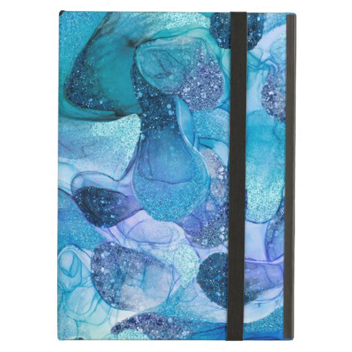 Blue silvery sparkle dream case for iPad air