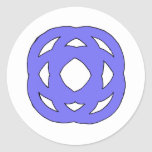 Blue Simple Circle Knot Classic Round Sticker