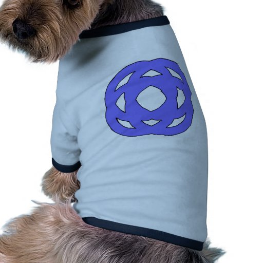 Blue Simple Circle Knot Dog Clothes