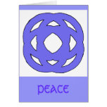 Blue Simple Circle Knot Greeting Cards