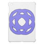 Blue Simple Circle Knot iPad Mini Cover