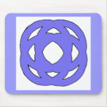 Blue Simple Circle Knot Mouse Pad