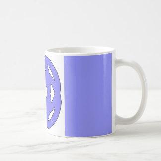 Blue Simple Circle Knot Coffee Mug