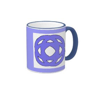 Blue Simple Circle Knot Coffee Mugs