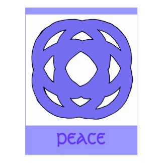 Blue Simple Circle Knot Postcards
