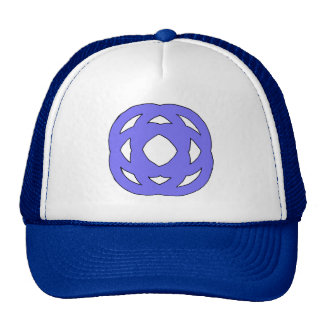 Blue Simple Circle Knot Trucker Hat