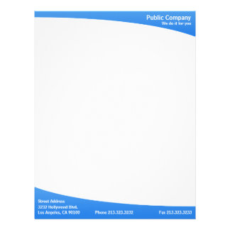 Blue simple plain modern elegant letterhead