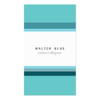 Blue simple professional corporate elegant modern business card