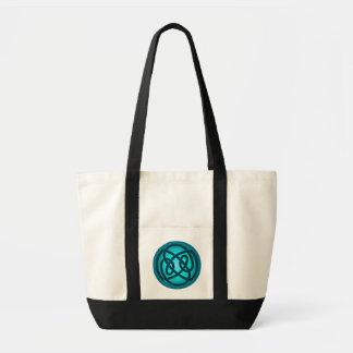 Blue Single Loop Knot Bag