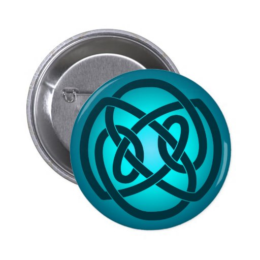 Blue Single Loop Knot Button