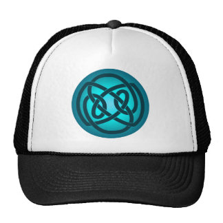 Blue Single Loop Knot Hat