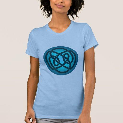 Blue Single Loop Knot Shirt