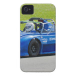 Blue single seater race car iPhone 4 case
