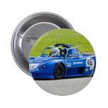 Blue single seater race car pinback buttons