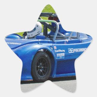 Blue single seater race car stickers