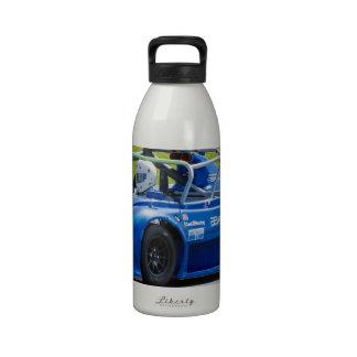 Blue single seater race car drinking bottle