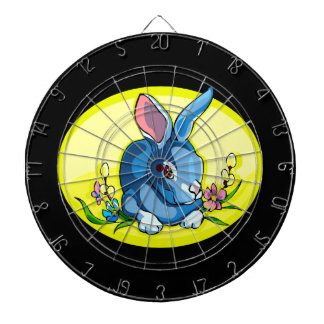 blue sitting rabbit flowers yellow oval.png dart board