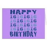 Blue Sixteen Cards