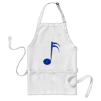 """Blue Sixteenth Note"" Adult Apron"
