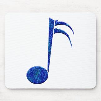 """Blue Sixteenth Note"" Mousepad"