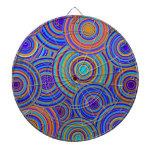 Blue Sixties Circles Pattern Dart Boards