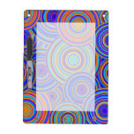 Blue Sixties Circles Pattern Dry Erase Boards