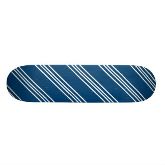 Blue Skateboard With White Lines