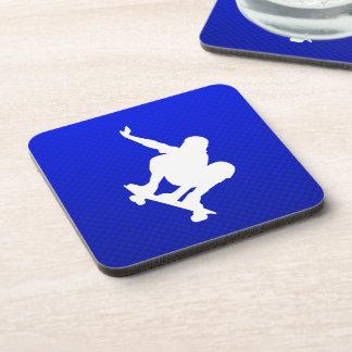 Blue Skateboarding Beverage Coaster