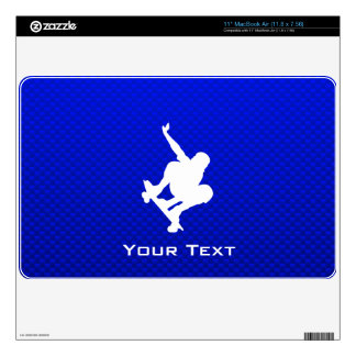 Blue Skateboarding Decal For The MacBook Air