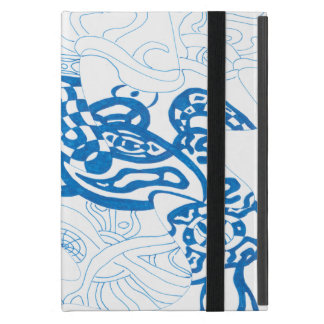 Blue Sketch, abstract Cover For iPad Mini
