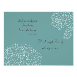 Blue Sketched Hydrangeas RSVP Card