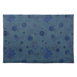 """""""Blue Sketchy Flowers"""" Placemat"""