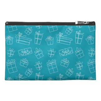 Blue Sketchy Gift Pattern Travel Accessories Bag